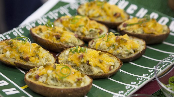 Carroll's Old Bay & Blue Crab-Loaded Potato Skins