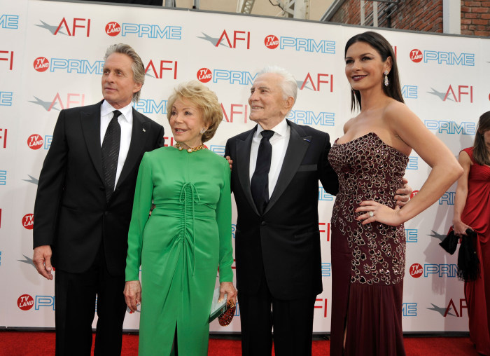 Catherine Zeta-Jones wishes father-in-law Kirk Douglas a happy 101st birthday