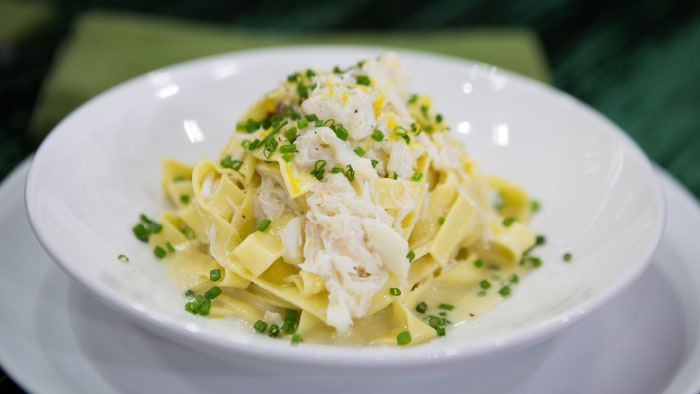 Bill Telepan's Egg Fettucine with Jonah Crab