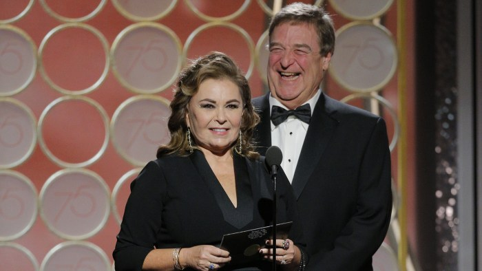 Image result for Golden Globe Awards 2018 Roseanne