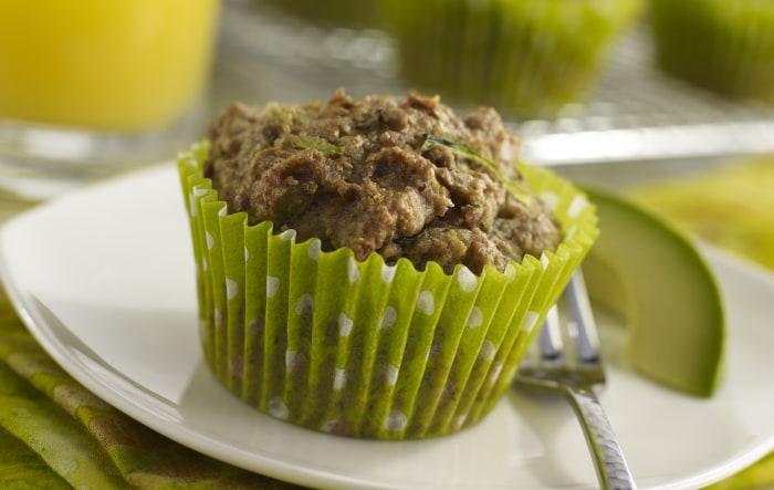Avocado Zucchini Muffins