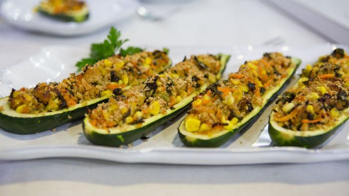 Joy Bauer's Veggie-Stuffed Zucchini Boats