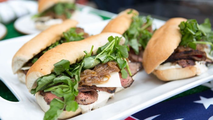 Shaved steak sandwich