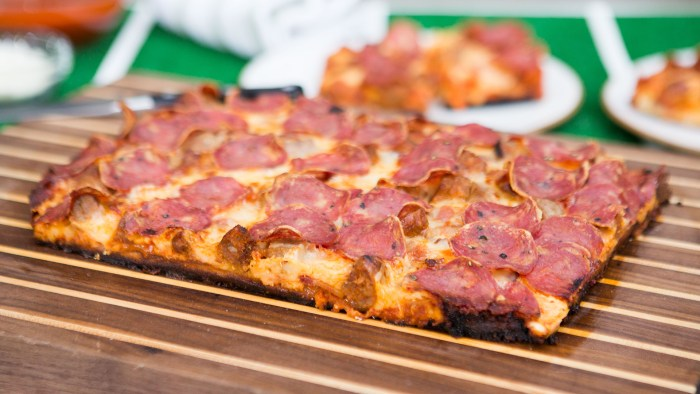 Mark Anderson's 3-Meat Detroit-Style Pizza