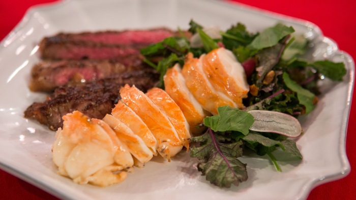 Michael Gulotta Seared Steak and Lobster Salad