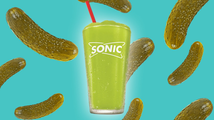 sonic drive-in pickle trend with a new pickle juice slush - today