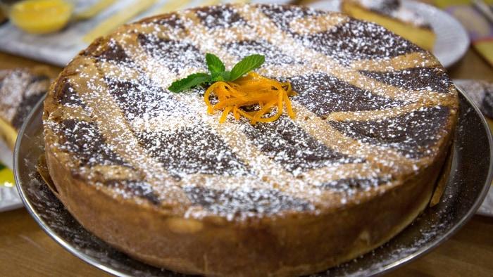 Anthony & Elaina Scotto's Orange-Blossom Ricotta Tart