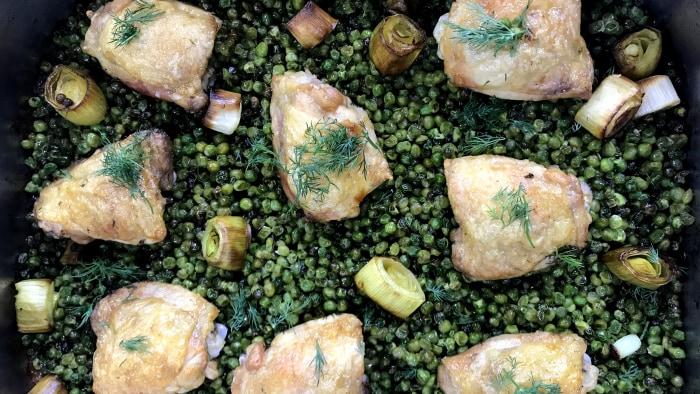 nigella lawson s chicken and pea traybake today com rh today com