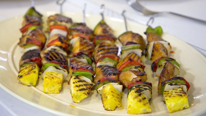 CAMILA ALVES CHICKEN KEBABS