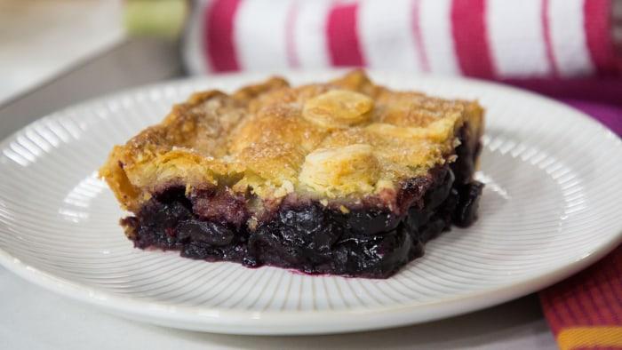 Gesine Bullock- Prado's Summer Cherry Lattice Slab Pie