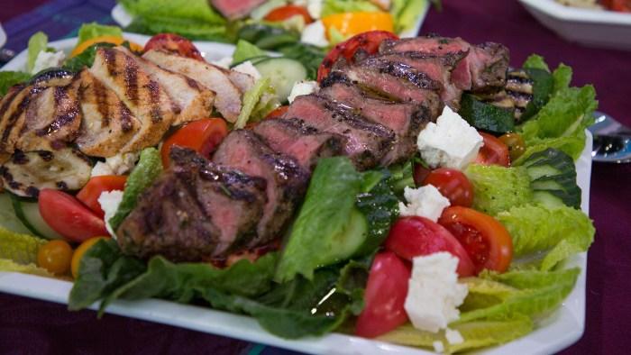 Chef Michael Lomonaco's steak and swordfish