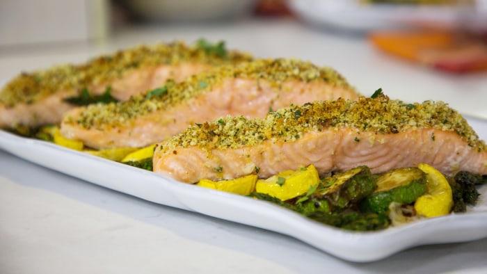 One-Pan Herb-Crusted Salmon & Veggies