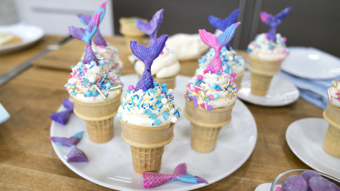 Brandi Milloy's Mini Homemade Pastry Tarts + Mermaid Tails