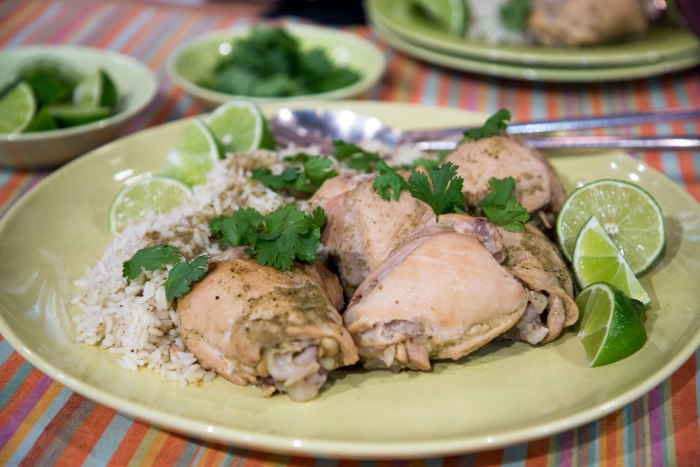 Martha Stewarts Cilantro Chicken And Rice Today