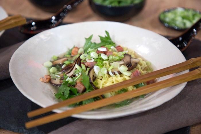 Martha Stewart's Cilantro Chicken & Rice, Sloppy Joe's, Ramen with Shiitake Mushrooms