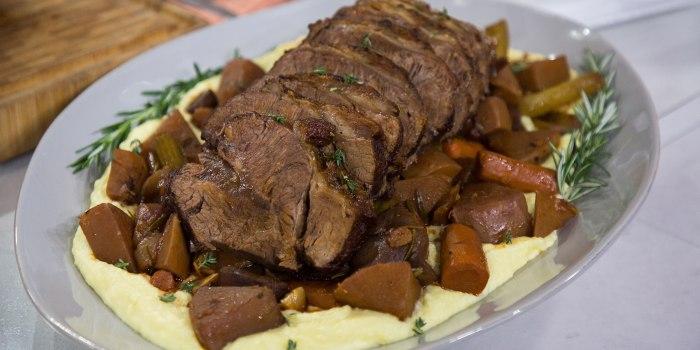 Gavin Kaysen's Pot Roast with Cheesy Mashed Potatoes