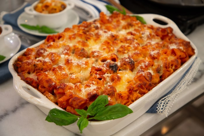 Chicken Meatball and Penne Pasta Bake