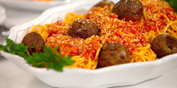 Chloe Coscarelli's Meatball Sliders, Spaghetti & Meatballs, Meatball Pizza
