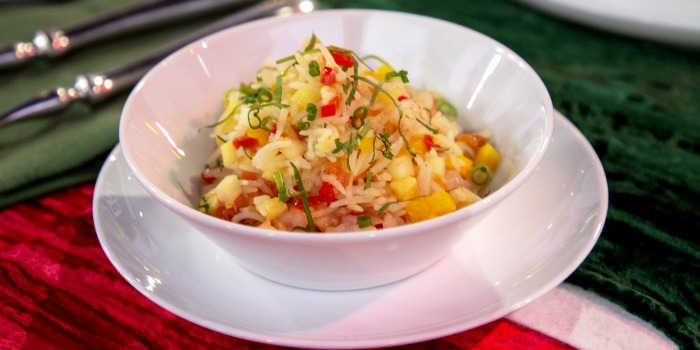Eric Ripert's Snapper with Coconut Milk and Tomatoes + Caribbean Fried Rice