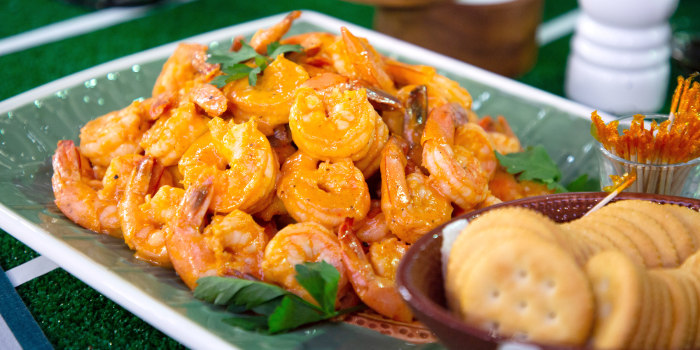 Elizabeth Heiskell's Shrimp Remoulade + Crawfish Bread + Philly Cheesesteak + Beef Roll-ups + Pig Skin Nachos