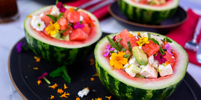 Watermelon, Arugula and Avocado Salad