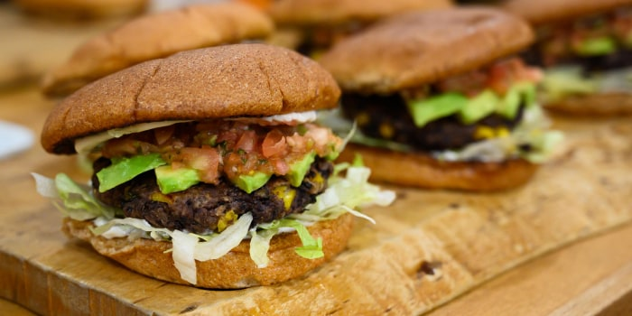 Sunny Anderson's Black Bean Burgers + Sunset Veggie Chips