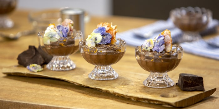 RANDI ALTIG: Randi Altig's Shrimp Pasta + Dairy-Free Chocolate Mousse