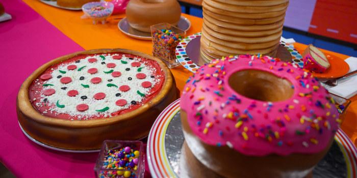 Amira Kassem's Rainbow Explosion Cake + Donut Cake