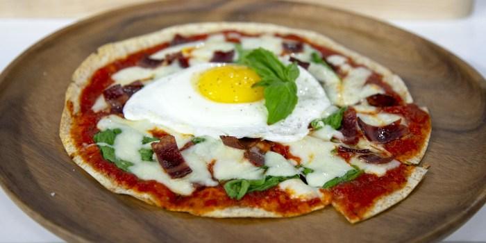 Joy Bauer's Breakfast Pizza + Sweet Potato Pancakes + Omelet 'Doughnuts'
