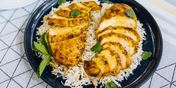 Priya Krishna's Garlic-Ginger Chicken + Basic Dal + Dahi Toast