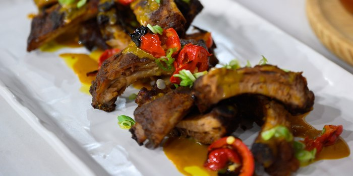 Jason Santos' Deviled Egg Toast + Hot Peppers + Cajun Bloody Mary +Glazed Ribs