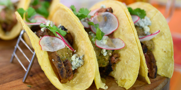 Michael Symon's Grilled Rib-eye Tacos