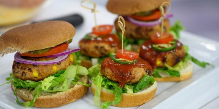 Joy Bauer's Tex-Mex Burger + French-Onion Soup Burgers + Veggie Big Mac