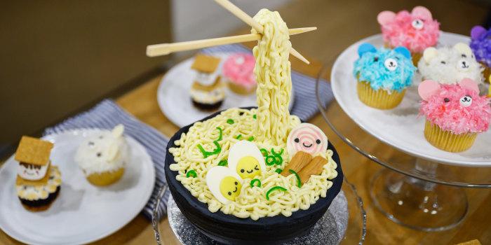Rachel Fong's Ramen Cake + S'mores Cupcakes + Coconut Bear Cupcakes