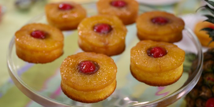 Jocelyn Delk Adams' Mini PIneapple Upside-Down Cakes + Marble Cakelettes
