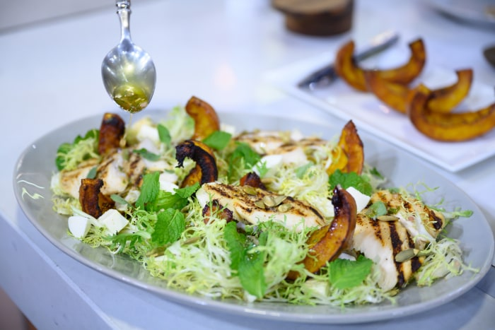 Daphne Oz's Chicken Paillard + Roasted Pumpkin Salad