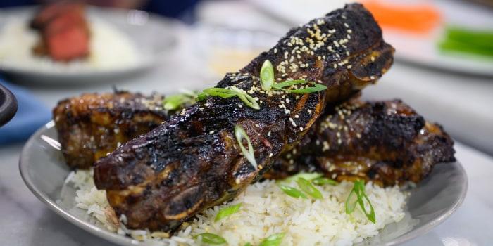 Jet Tila's Korean Short Ribs + BBQ Beef Noodles + Fried Rice + Short-rib Salad