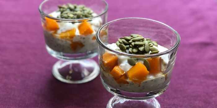 Butternut Squash and Pumpkin Seed Yogurt Parfait