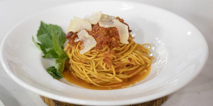 LIDIA BASTIANICH: Barolo-Braised Short Ribs + Pasta Amatriciana + Olive Oil Mashed Potatoes