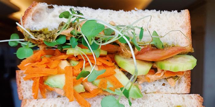 Samah Dada's Hummucado Veggie Sandwich