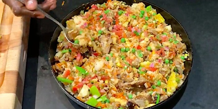 Pork Rib Fried Rice