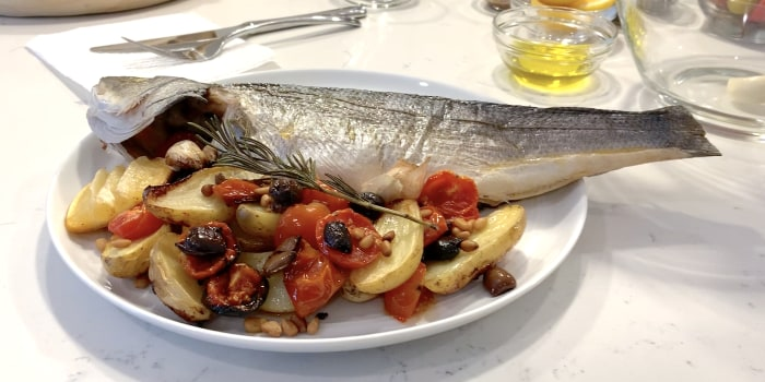 Pan-Seared Branzino 'Ligurese'
