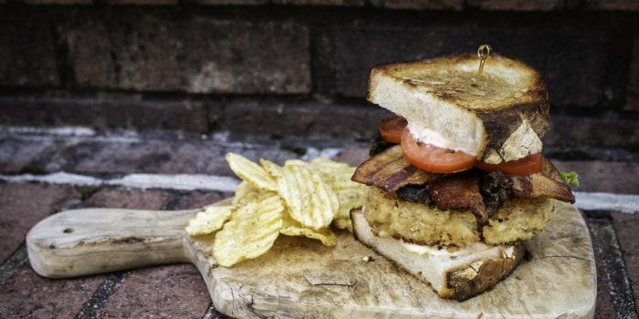 David Rose's Crab Cake BLT Sandwich