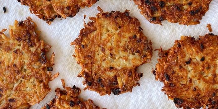 French Onion Latkes