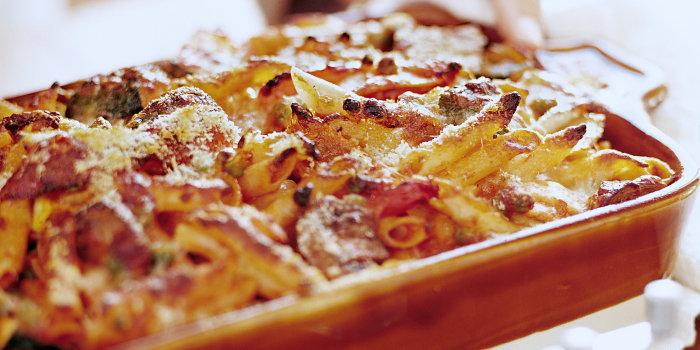 Giada De Laurentiis' Baked Penne with Roasted Vegetables