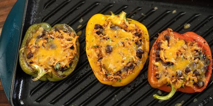 Chicken Tinga Burrito Stuffed Bell Pepper