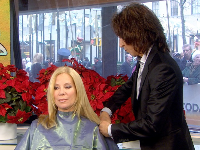 Kathie Lee Gets A Live Edward Scissorhands Style Haircut Today