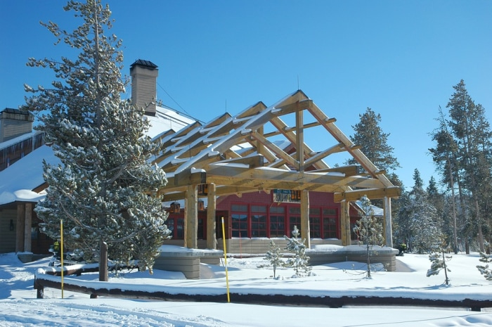 Christmas is magical at a national park lodge for Yellowstone log cabin hotel