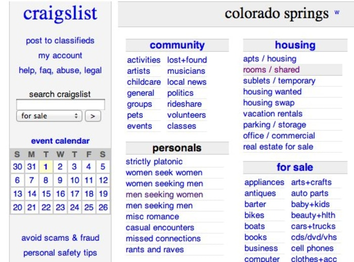 List of Synonyms and Antonyms of the Word: Craigslist Colorado