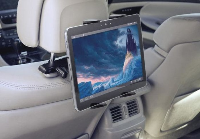 Arkon's Tablet Headrest Mount will give you and your kids some flexibility on the road.